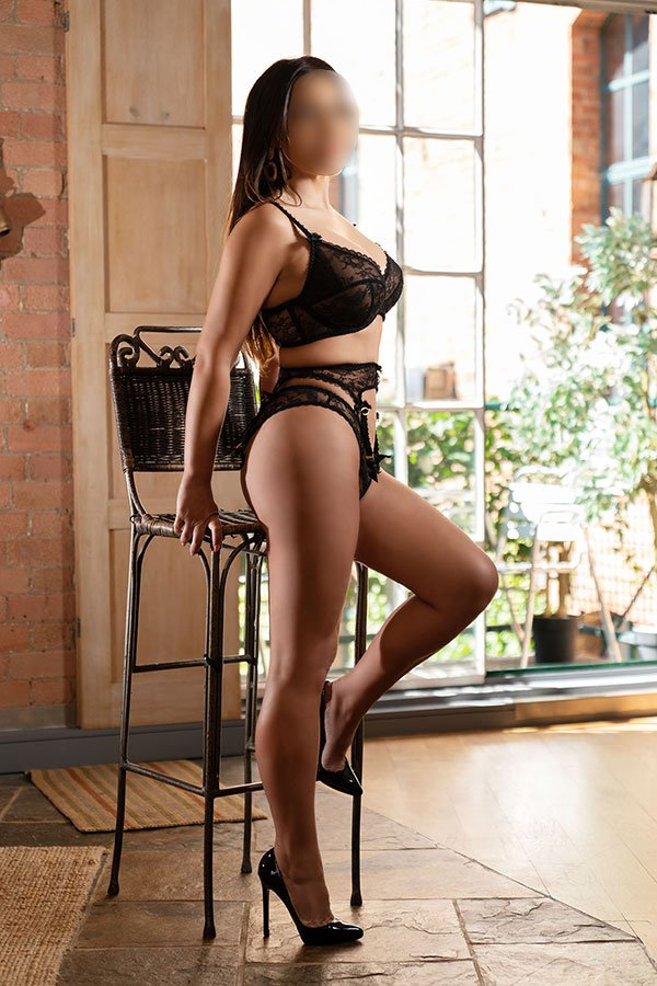 International Escort Alexandra Parker in Black Lingerie